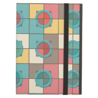Capa Para iPad Air Teste padrão geométrico colorido