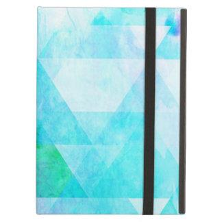 Capa Para iPad Air Teste padrão geométrico da aguarela azul