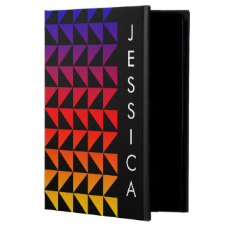 Capa Para iPad Air Teste padrão geométrico do arco-íris brilhante