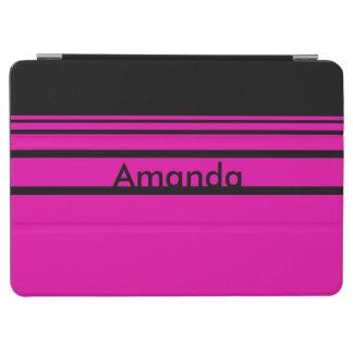 Capa Para iPad Air Teste padrão listrado personalizado de rosa quente