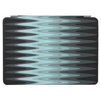 Capa Para iPad Air Teste padrão preto das cinzas da cerceta do