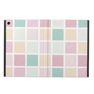 Capa Para iPad Air Teste padrão quadrado moderno branco amarelo