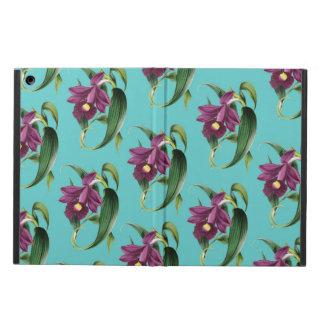 Capa Para iPad Air Teste padrão roxo da cerceta das orquídeas