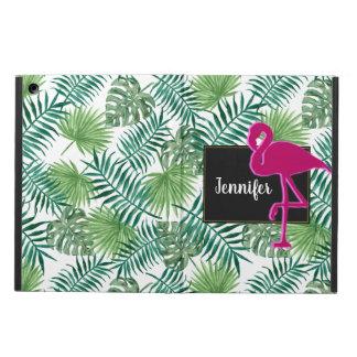 Capa Para iPad Air Teste padrão tropical das folhas e flamingo