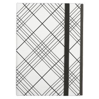 Capa Para iPad Air Teste padrão verificado preto e branco da xadrez