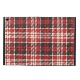 Capa Para iPad Air Teste padrão vermelho e preto da xadrez