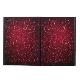 Capa Para iPad Air Teste padrão vermelho Textured elegante lunático