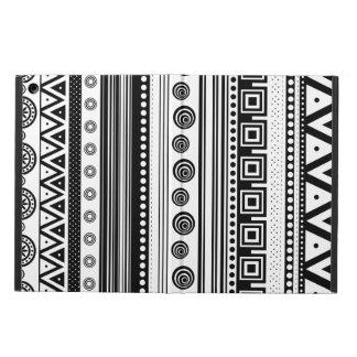 Capa Para iPad Air Textura asteca decorativa branca preta bonito