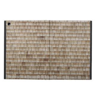 Capa Para iPad Air textura de madeira bege da parede do grunge