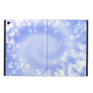 Capa Para iPad Air Textura do abstrato do azul de Bokeh. Nome