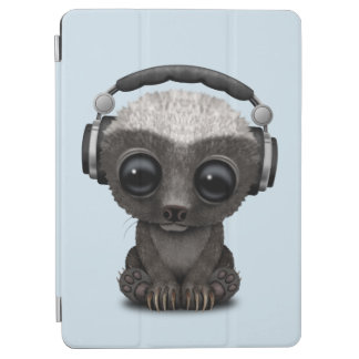 Capa Para iPad Air Texugo de mel bonito DJ do bebê que veste fones de