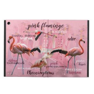 Capa Para iPad Air Tipografia cor-de-rosa | do flamingo personalizado