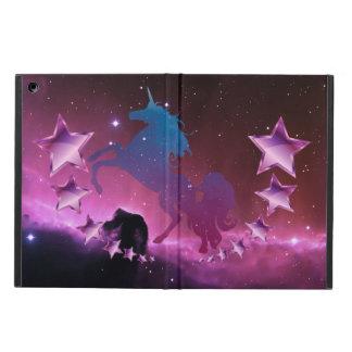 Capa Para iPad Air Unicórnio com estrelas
