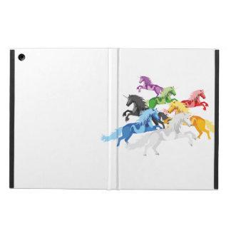 Capa Para iPad Air Unicórnios selvagens coloridos da ilustração
