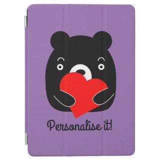Capa Para iPad Air Urso preto que guardara um coração
