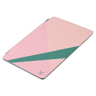 Capa Para iPad Air Verde geométrico elegante do pêssego do rosa
