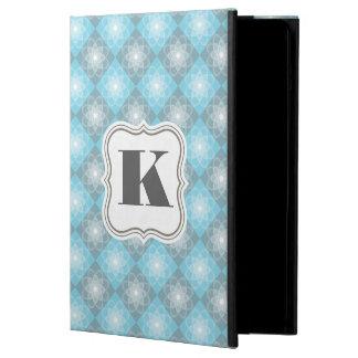 Capa Para iPad Air Verificadores azuis & cinzentos bonitos