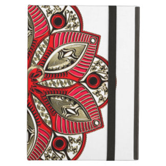 Capa Para iPad Air Vermelho e Aries do sinal do zodíaco do ouro