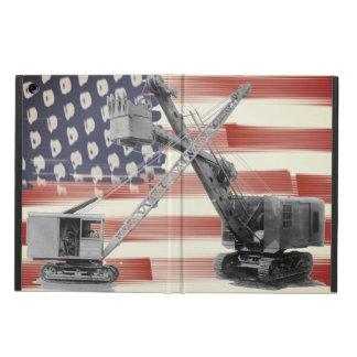 Capa Para iPad Air Vintage noroeste da bandeira dos EUA do guindaste