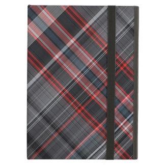 Capa Para iPad Air Xadrez vermelha, preto e branco