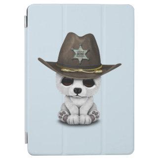 Capa Para iPad Air Xerife bonito de Cub de urso polar do bebê