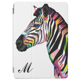 Capa Para iPad Air Zebra colorida do pop art Monogrammed