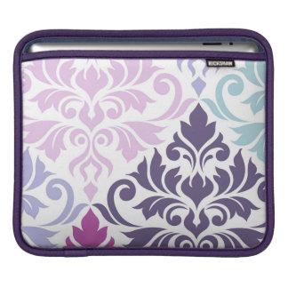 Capa Para iPad Arte do damasco do Flourish mim azuis dos rosa dos