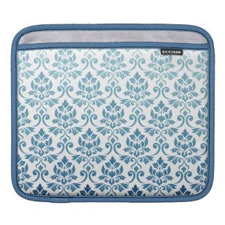Capa Para iPad Azul-Cerceta da DK do inclinação da cor damasco de