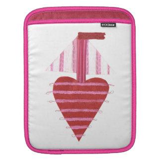 Capa Para iPad Barco de Loveheart nenhuma luva da Eu-Almofada do