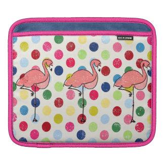 Capa Para iPad Bolinhas coloridas dos flamingos Funky bonitos