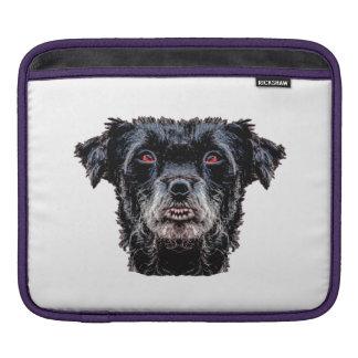 Capa Para iPad Cabeça de cão preto do demónio