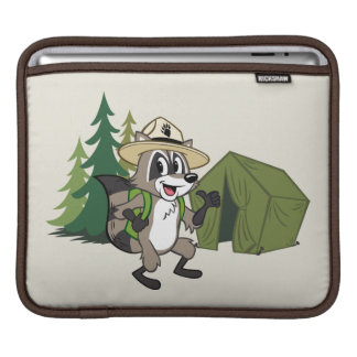 Capa Para iPad Campout americano do rick | da guarda florestal