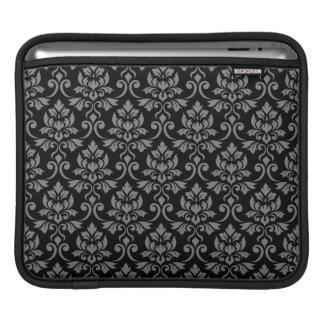 Capa Para iPad Cinzas da cor damasco de Feuille no preto