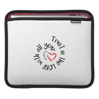 Capa Para iPad Confiança no SENHOR com todo seu coração