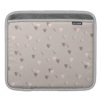 Capa Para iPad corações cor-de-rosa claros simples do amor do