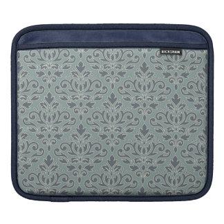 Capa Para iPad Enrole a cerceta do azul do creme da cor damasco