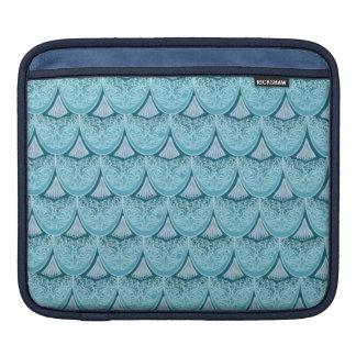 Capa Para iPad Escalas azuis da sereia, boho, hippie, boémio