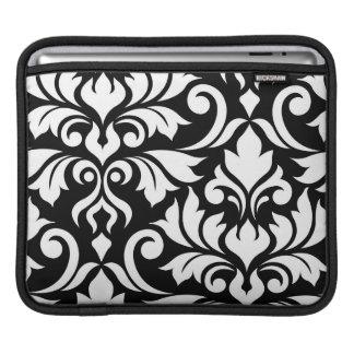 Capa Para iPad Floresça a arte do damasco 2Way mim branco & preto