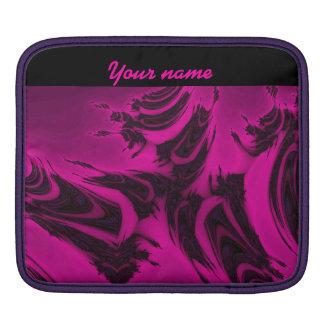 Capa Para iPad Fractal cor-de-rosa e preto