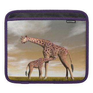 Capa Para iPad Girafa da mãe e do bebê - 3D rendem
