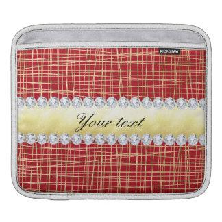 Capa Para iPad Linhas e diamantes vermelhos do entrecruzamento do