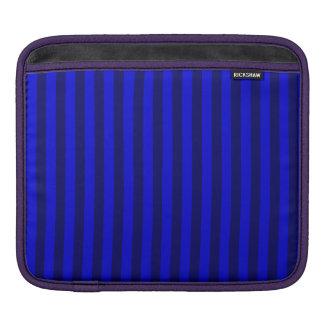 Capa Para iPad Listras finas - azuis e azuis escuro