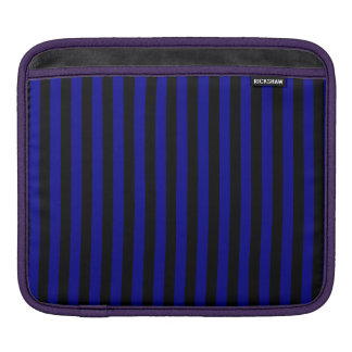 Capa Para iPad Listras finas - pretas e azuis escuro
