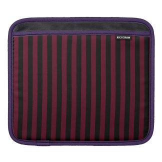 Capa Para iPad Listras finas - pretas e escarlate escuro