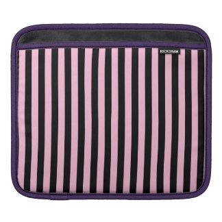 Capa Para iPad Listras finas - preto e algodão doce