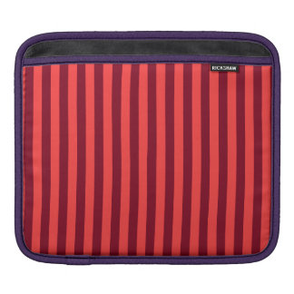 Capa Para iPad Listras finas - vermelho claro e obscuridade -