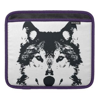 Capa Para iPad Lobo preto da ilustração
