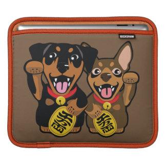 Capa Para iPad Luva afortunada do iPad do cão do Pin do minuto do