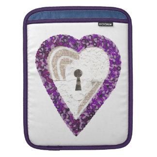 Capa Para iPad Luva da Eu-Almofada do coração do cacifo