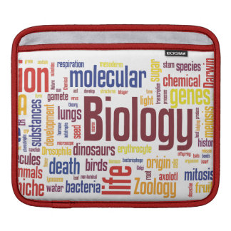 Capa Para iPad Luva do iPad de Wordle da biologia